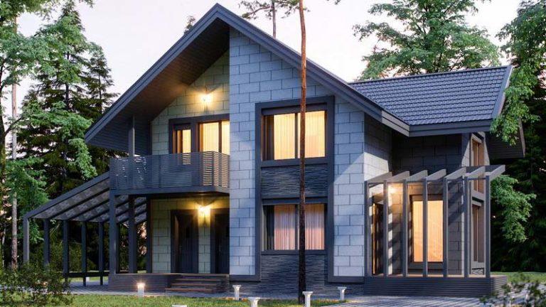 Дом средних размеров